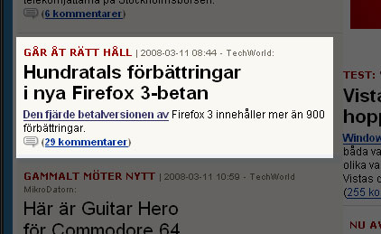 Firefox i ny betalversion enligt IDG