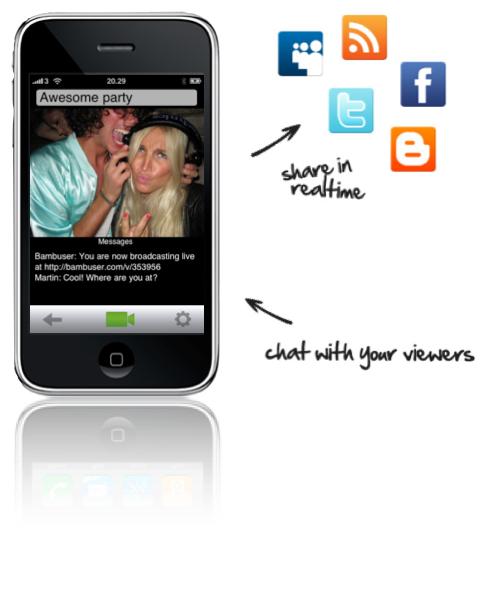 Bambuser + Social media