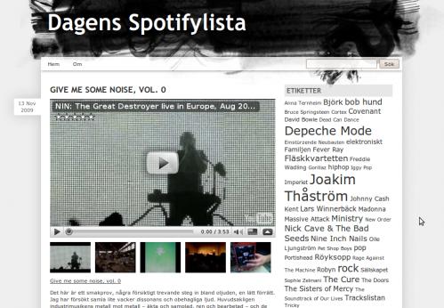 Dagens Spotifylista